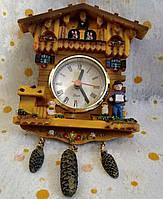 """Часы настенные  """"Избушка"""" керамика"""