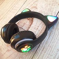 Наушники ушки кошки кошачьи Wireless Headset Cat ZTN-28 кошачьи ушки с LED подсветкой и Bluetooth Фото в живую