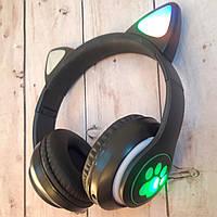 Беспроводные наушники кошачьи ушки с LED подсветкой в так музыке девушке мальчику девочке оригинальные фото