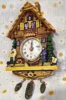 """Часы настенные  """"Избушка"""" керамика 13х22"""