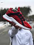 Мужские кроссовки Adidas (красные) 607TP легкие кроссы на весну и лето СЕТКА, фото 3