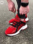 Мужские кроссовки Adidas (красные) 607TP легкие кроссы на весну и лето СЕТКА, фото 5