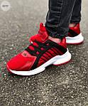 Мужские кроссовки Adidas (красные) 607TP легкие кроссы на весну и лето СЕТКА, фото 2