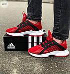 Мужские кроссовки Adidas (красные) 607TP легкие кроссы на весну и лето СЕТКА, фото 4