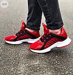 Мужские кроссовки Adidas (красные) 607TP легкие кроссы на весну и лето СЕТКА, фото 6