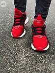 Мужские кроссовки Adidas (красные) 607TP легкие кроссы на весну и лето СЕТКА, фото 7
