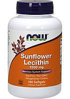 Лецитин подсолнечника США NOW sunflower lecithin 1200 mg 100 softgels