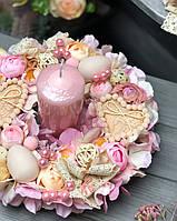 Пасхальна композиція на стіл зі свічок «Цвітіння весни»