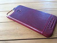 Кожаный чехол-накладка Pierre Cardin для  iPhone 5/5s red