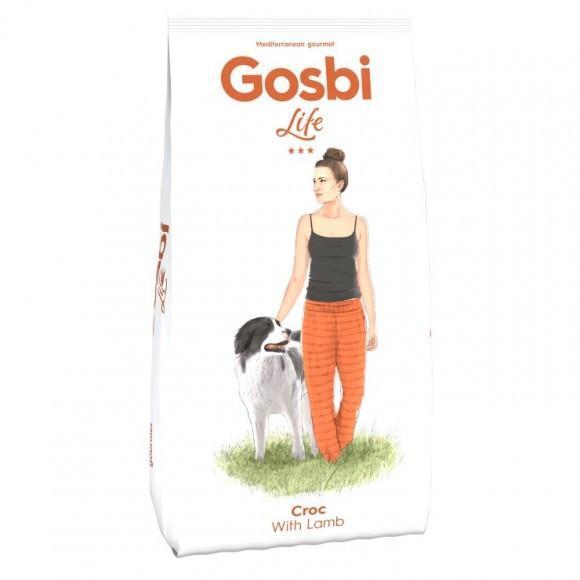 Gosbi Life Croc With Lamb 3 кг корм премиум класса с курицей и ягненком для взрослых собак всех пород