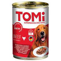 TOMi Beef ТОМИ ГОВЯДИНА супер премиум корм, консервы для собак 400 г х 12 шт