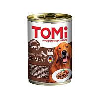 TOMi 5 kinds of meat 5 ТОМИ ВИДОВ МЯСА супер премиум корм, консервы для собак 1.2 кг