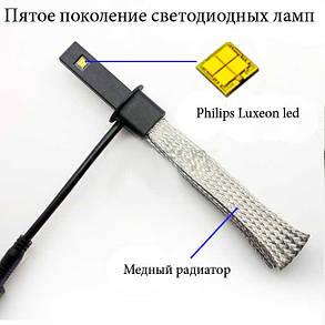 Комплект led ламп в головной свет SLP LED G5 под цоколь H1 20W Philips Luxeon led 9-30 В. Белый, фото 2