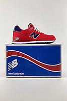 Женские кроссовки New Balance 574 Red WL574POR (Оригинал)