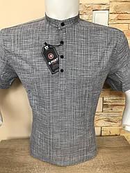 Лляна сорочка (model 505) з коротким рукавом G-port