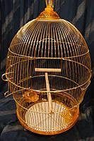 Клетка для птиц круглая золотая 370