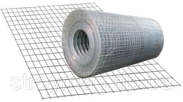 Сетка сварная оцинкованная 1,4мм 50*25мм 30 кв.м