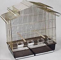 Золотая клетка VICTORIA для средних и мелких попугаев, канареек, клетка для разведения попугаев с купалкой