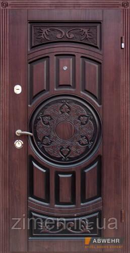 Вхідні двері з патиною модель Baku комплектація Nova