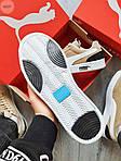 Мужские кроссовки Puma Suede (бежевые) 603TP легкие спортивные кроссы на весну и лето, фото 3