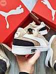 Мужские кроссовки Puma Suede (бежевые) 603TP легкие спортивные кроссы на весну и лето, фото 6
