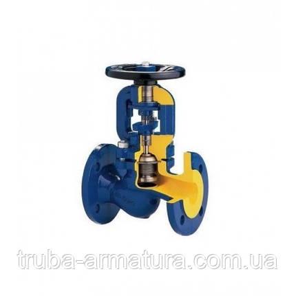 Клапан запірний фланцевий чавунний ZETKAMA 234 Ду 32 (сильфон), фото 2