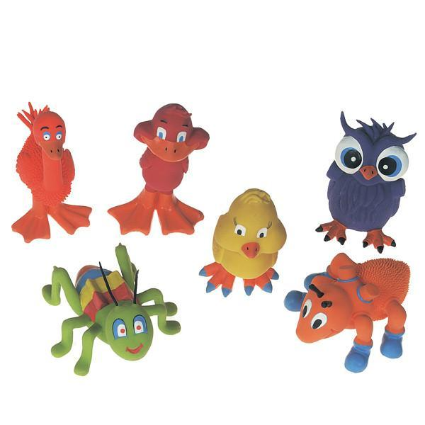 Flamingo (ФЛАМИНГО) LANDANIMAL игрушки для собак, забавные зверьки из латекса 10х9,5х10,5 см
