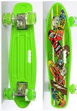 Скейт (пенні борд) Penny board зі світними колесами САЛАТОВИЙ арт. 0749-6