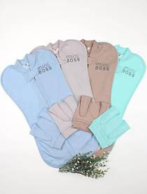 Евро пеленка с шапочкой для новорожденных мальчиков Mini Boss