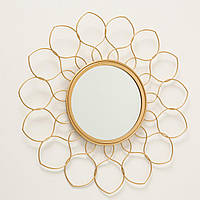 Зеркало Цветок металл золото d37см Гранд Презент 1017263-2 узор
