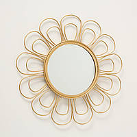 Зеркало Цветок металл золото d37см Гранд Презент 1017263-3 лепесток