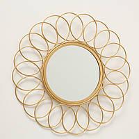 Зеркало Цветок металл золото d37см Гранд Презент 1017263-1 круг