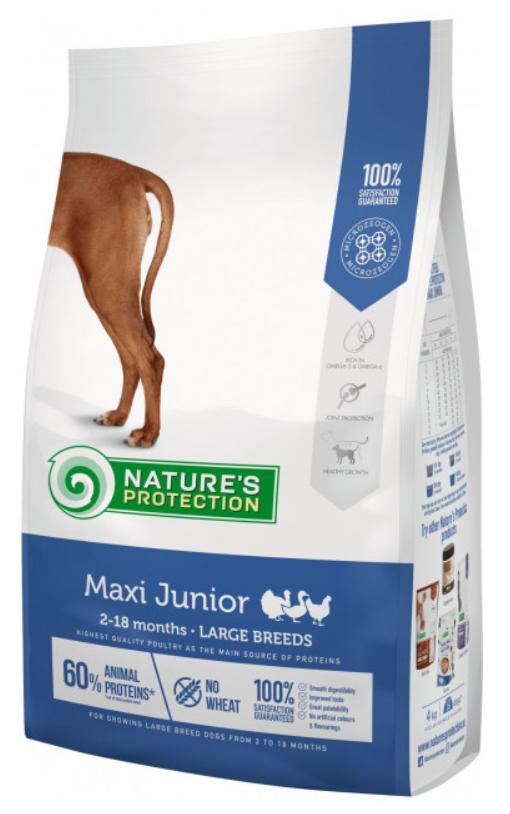 Nature's Protection Maxi Large Junior breeds сухий корм для цуценят великих порід 12 кг
