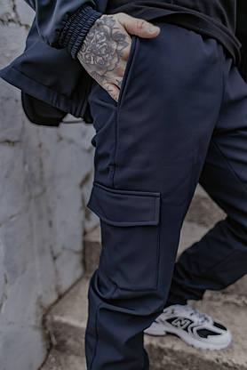 Костюм мужской синий демисезонный Intruder Softshell Easy.Куртка + штаны осенний | весенний | летний, фото 3