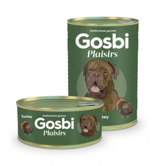 Gosbi Plaisirs Turkey 0.4 кг консерва для дорослих і активних собак
