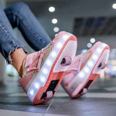 Кроссовки роликовые на колесиках