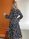 Молодіжне плаття жіноче вільний довжини Міді, фото 4
