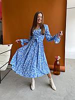 Молодежное платье женское свободное длины Миди