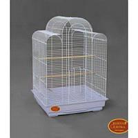 Белая клетка для мелких и средних попугаев белая 610