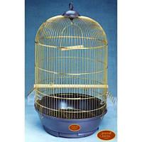 Клетка золотая круглая для птиц 330 DIVA золото