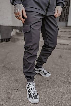 Костюм мужской серый демисезонный Intruder Softshell Easy.Куртка + штаны осенний   весенний   летний, фото 3
