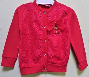 Кофта утепленная для девочки с кружевом и на кнопках, Eftelya (размер 3(98))
