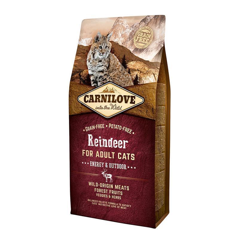 Сухий корм Carnilove Cat Raindeer Energy & Outdoor з м'ясом північного оленя для дорослих активних кішок 6
