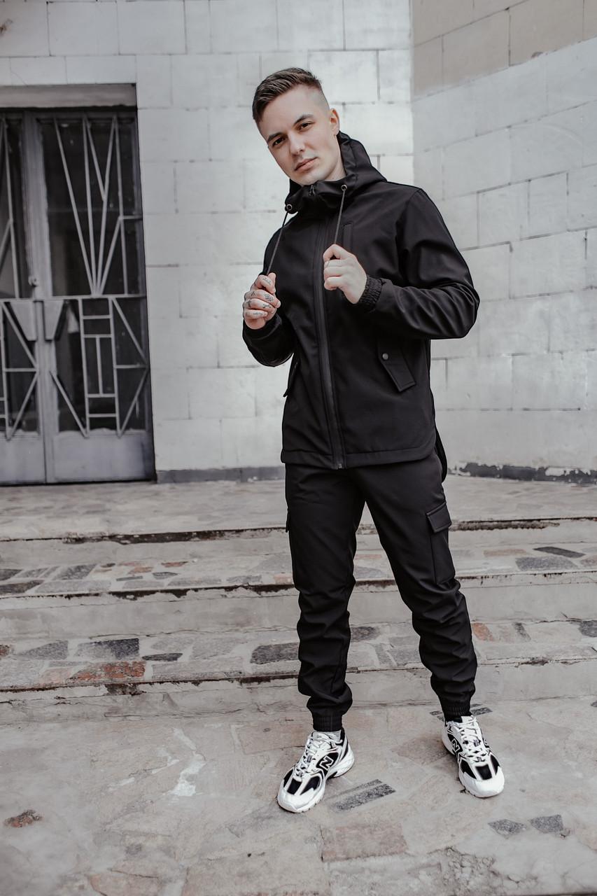 Костюм чоловічий чорний демісезонний Intruder Softshell Easy Куртка + штани осінній   весняний   летни