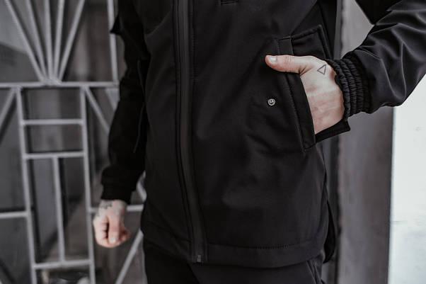 Костюм чоловічий чорний демісезонний Intruder Softshell Easy Куртка + штани осінній   весняний   летни, фото 3