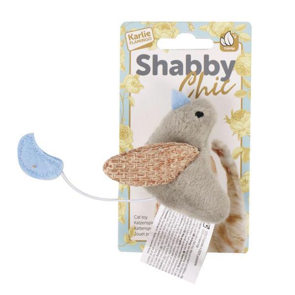 Flamingo Shabby Chic Bird ФЛАМІНГО ШЕБІ ШИК ПТАШКА іграшка для котів, плюш, з котячою м'ятою 7x2.5 см