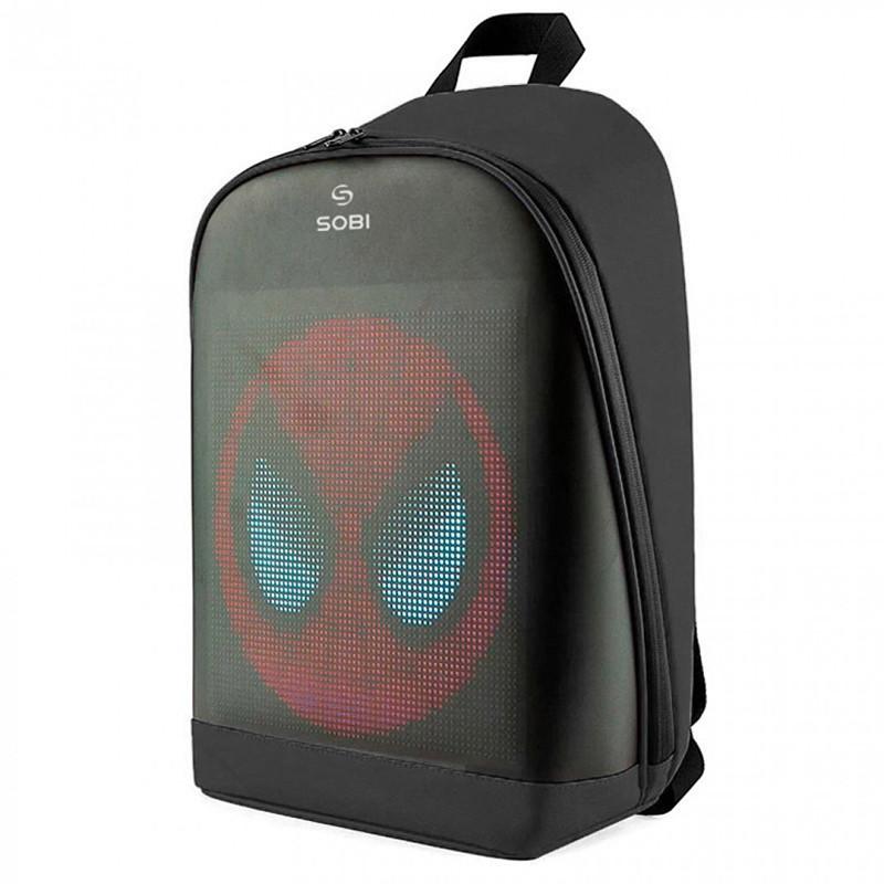 Міський стильний рюкзак Sobi Pixel Plus з LED екраном з відділом під ноутбук Компактний рюкзак унісекс
