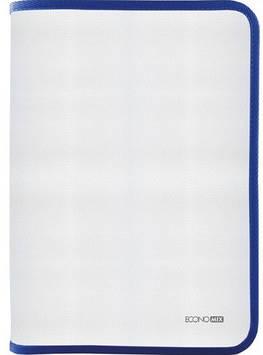 """Папка """"Economix"""" №E31645-02 B5 пласт. на блиск.(синя)(20)"""