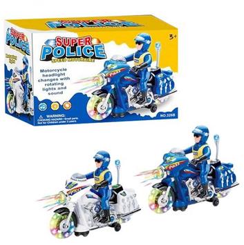 Мотоцикл муз.,на бат-ці,у кор-ці,23х10х15см,2 кольори №326B(30)(60)