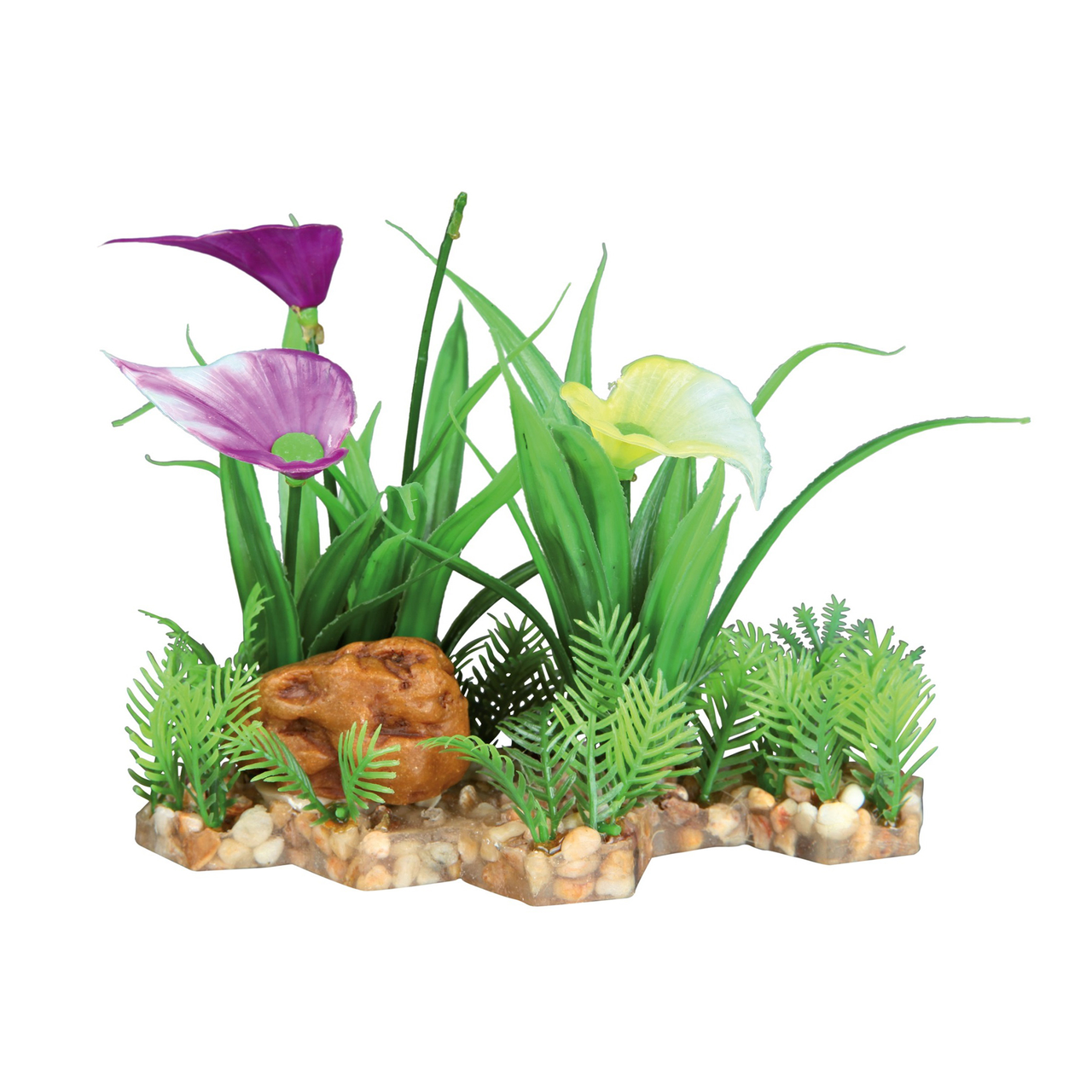Декорація для акваріума Trixie рослини на підставці 13 см (пластик)